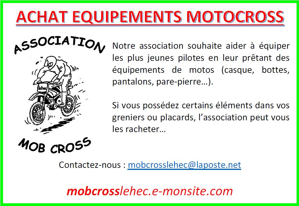Achat equipements motocross